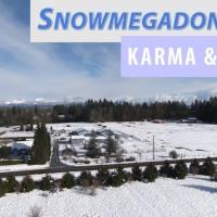 Snowy Drone Flight around Lakewood WA